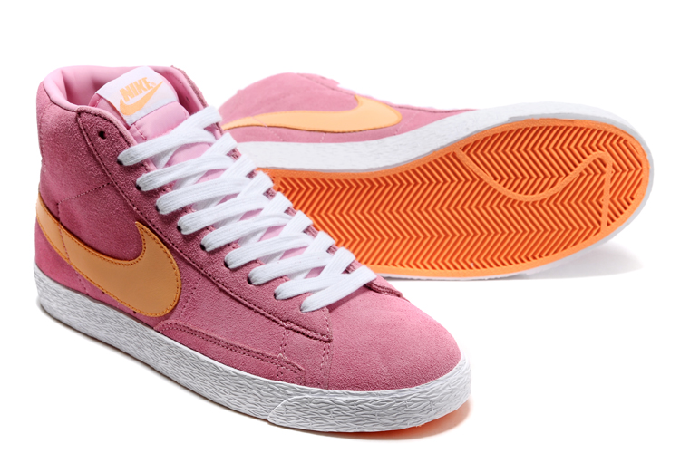 Women New Nike Blazer Mid Peach Orange Shoes