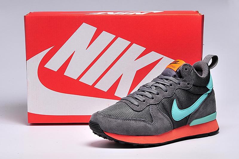 Women Nike 2015 Archive Grey Blue Orange Shoes