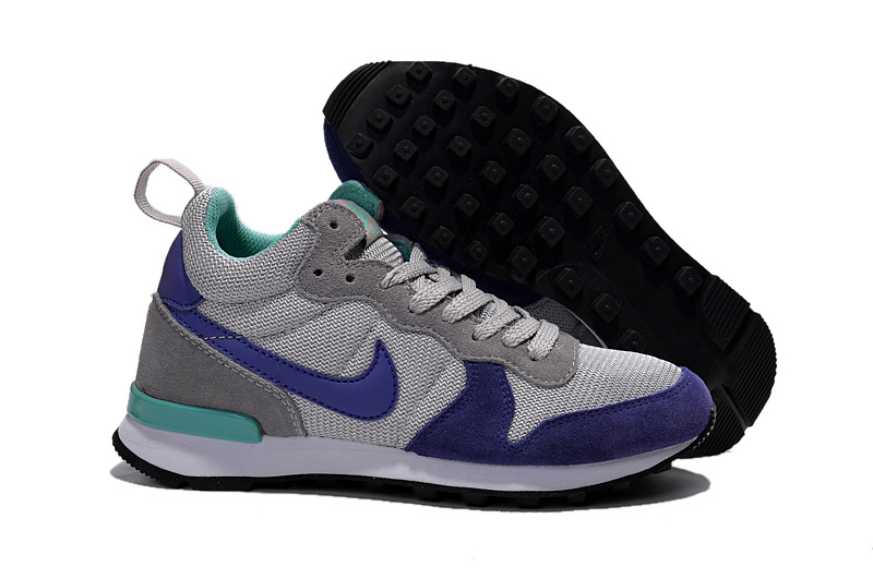 Women Nike 2015 Archive Grey Blue Shoes