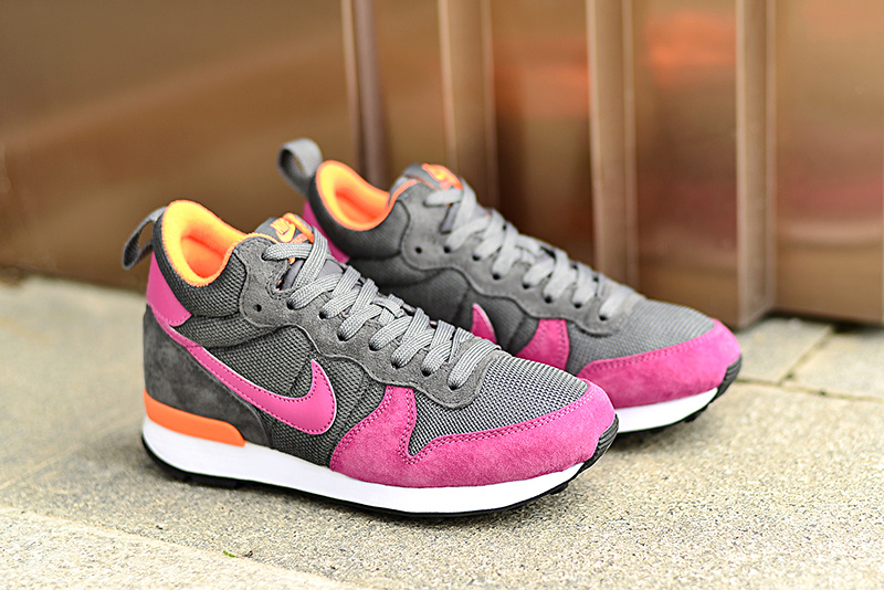 Women Nike 2015 Archive Grey Red Orange Shoes