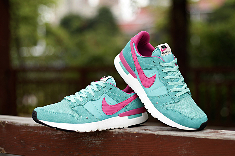 Women Nike 2015 Archive Light Green Pink Shoes