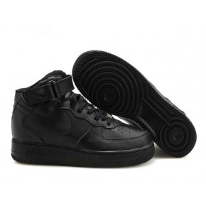 Women Nike Air Force 1 High All Black Shoes