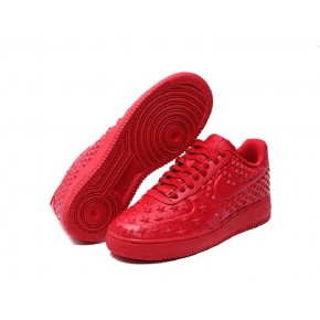 Women Nike Air Force 1 Low All Red Shoes