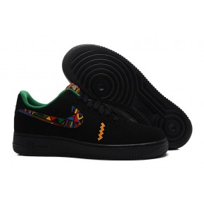 Women Nike Air Force 1 Low Black Colorful Shoes