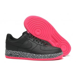 Women Nike Air Force 1 Low Black Pink Shoes