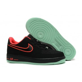 Women Nike Air Force 1 Low Black Red Shoes