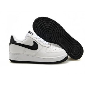 Women Nike Air Force 1 Low White Black Shoes