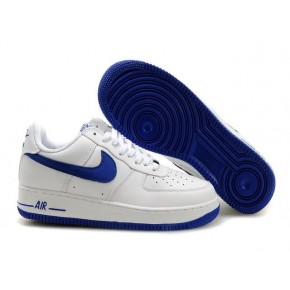 Women Nike Air Force 1 Low White Blue Shoes