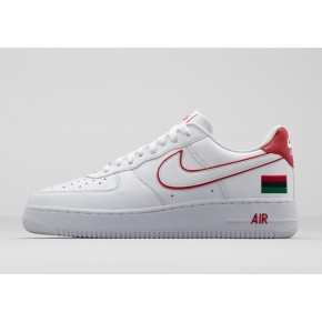 Women Nike Air Force 1 Low White Red Shoes