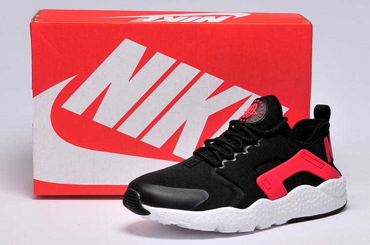 designer fashion bc933 958a3 Women Nike Air Huarache 3 Black Red White Shoes