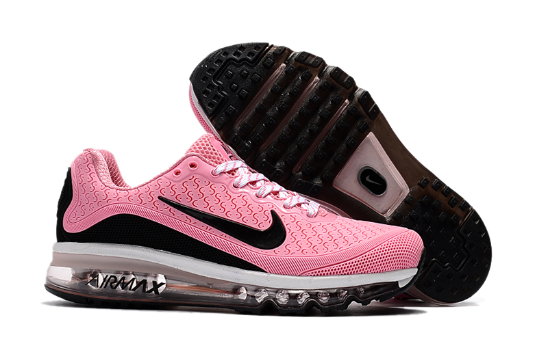 Women Nike Air Max 2017.5 Pink Black White Shoes