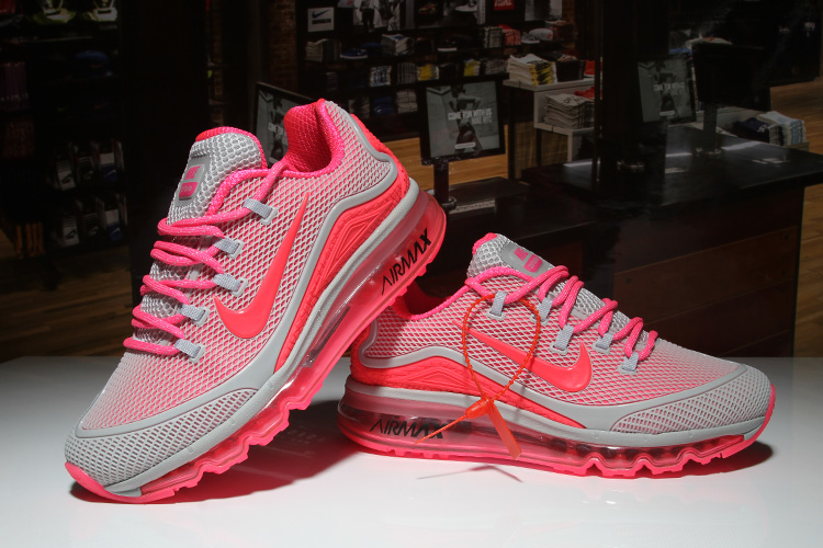 Women Nike Air Max 2018 Elite Grey Pink Shoes