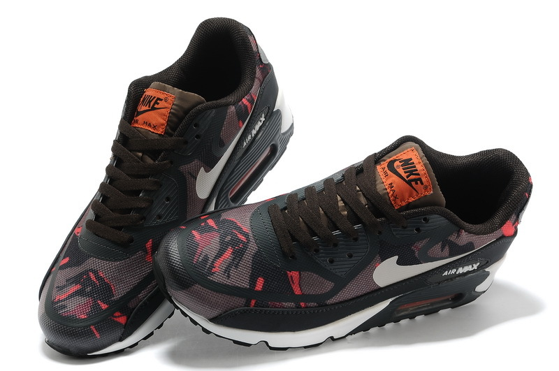 Women Nike Air Max 90 PREM TAPE Black Wine Red Shoes
