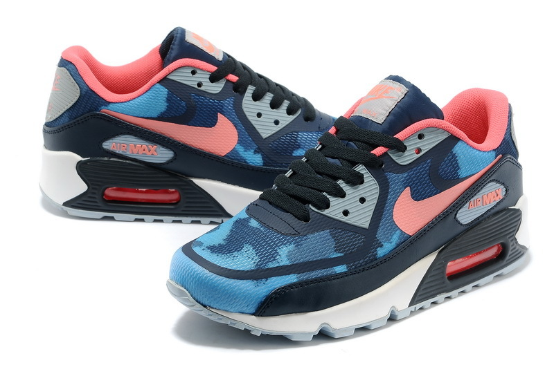Women Nike Air Max 90 PREM TAPE Blue Red Shoes