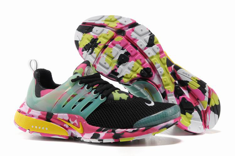 Women Nike Air Presto 1 Camo Black Light Green Pink Sport Shoes