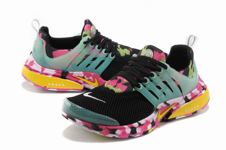 c92c5211e4e40 Women Nike Air Presto 1 Camo Black Light Green Pink Sport Shoes ...