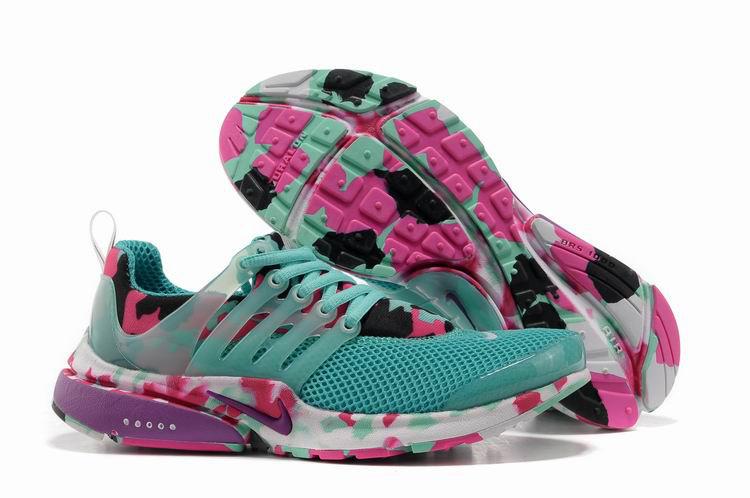Women Nike Air Presto 1 Camo Green Pink Sport Shoes