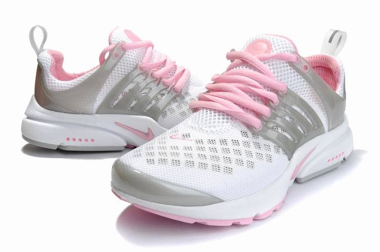 Women Nike Air Presto 2 Carve White Grey Pink Sport Shoes With Holes