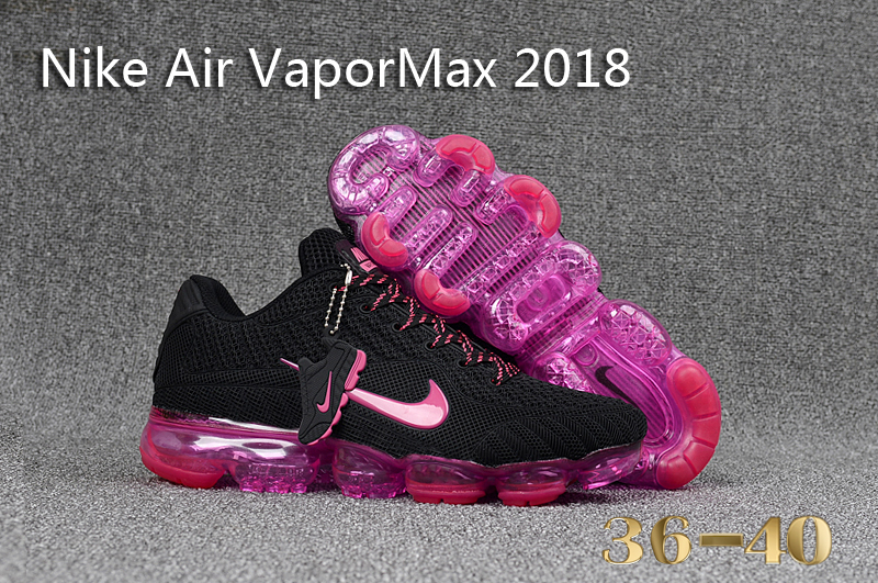 Women Nike Air VaporMax 2018 Black Red Shoes