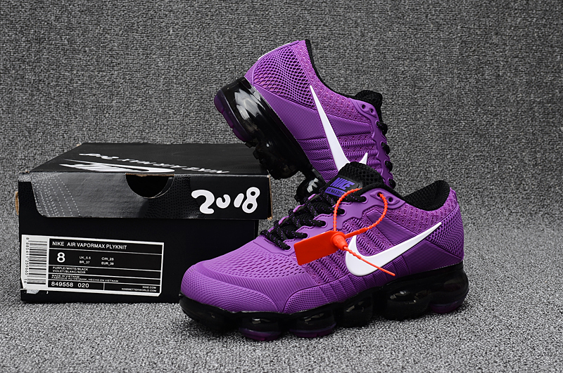 Women Nike Air Vapormax Flyknit Purple Black Shoes