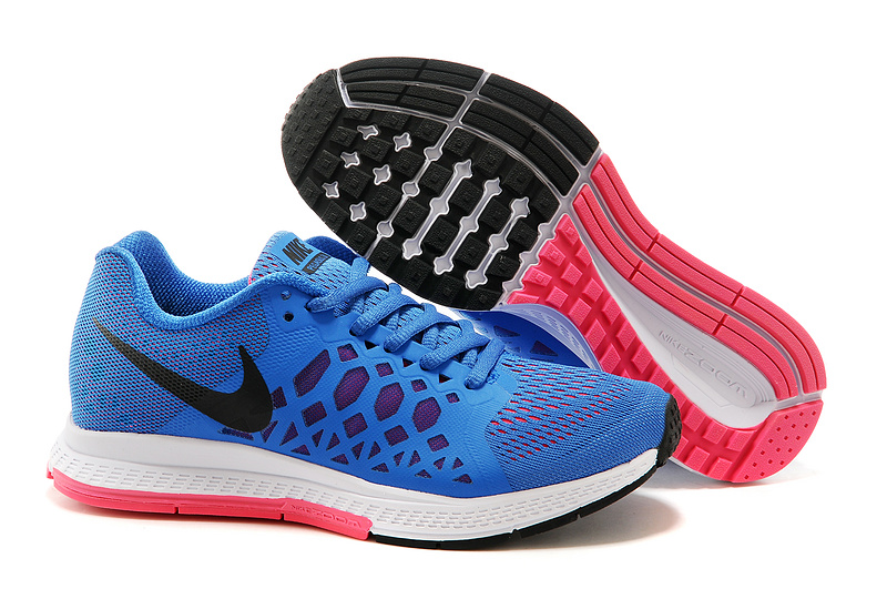 Women Nike Air Zoom Pegasus 31 Blue White Red Running Shoes