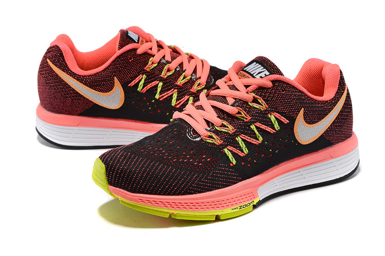 Women Nike Air Zoom Vomero 10 Black Orange Fluorscent White Shoes