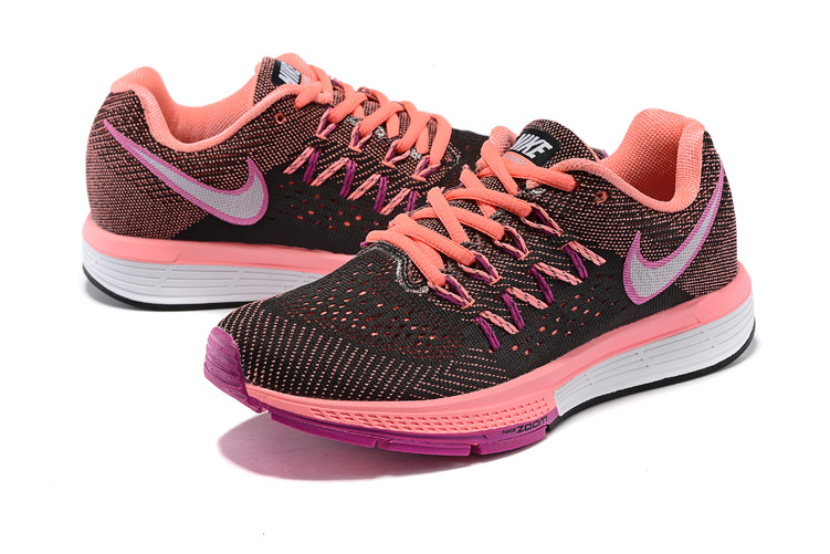 Women Nike Air Zoom Vomero 10 Black Orange Pink White Shoes