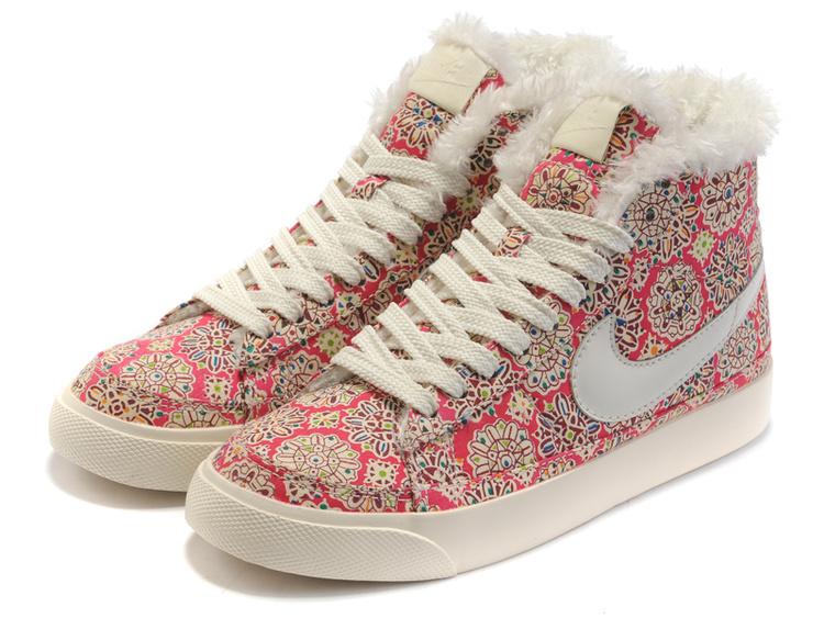 Women Nike Blazer 2 High Wool Cavans White Sun Flower Shoes