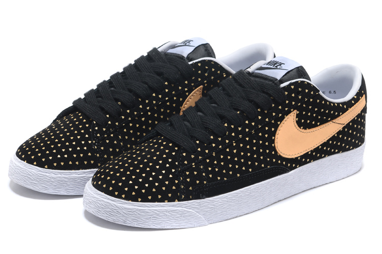 Women Nike Blazer Low Black Gold Shoes