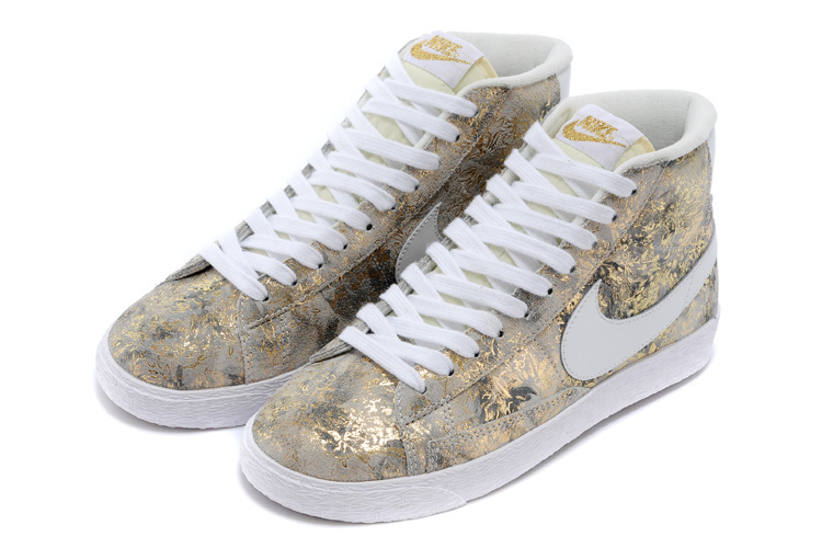Nike Blazer Mid Camo Grey Scrawl Women's Shoes
