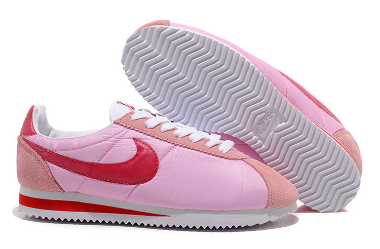 Women Nike Classic Cortez Nylon Pink Red Shoes