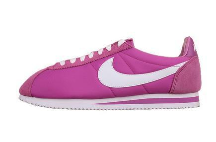Women Nike Classic Cortez Nylon Purple White Shoes