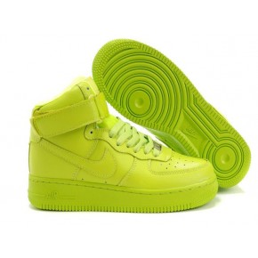 Women Nike Dunk High All Fluorscent Green Shoes