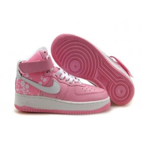 Women Nike Dunk High Pink White Shoes