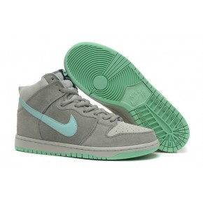 Women Nike Dunk High SB Grey Green Shoes