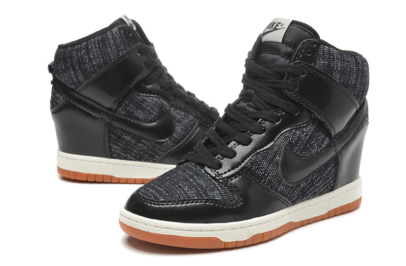 Women Nike Dunk SB High Black Shoes