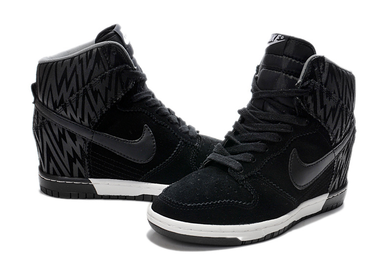 Women Nike Dunk SB High Black Strip Shoes
