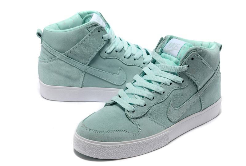 Women Nike Dunk SB Moon Green Shoes