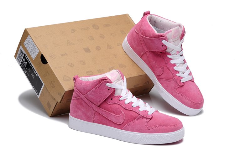 Women Nike Dunk SB Pink White Shoes