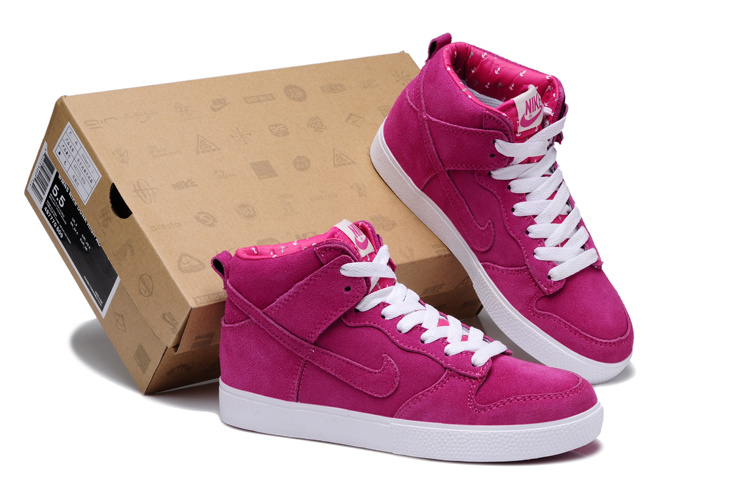 Women Nike Dunk SB Rose Red Shoes