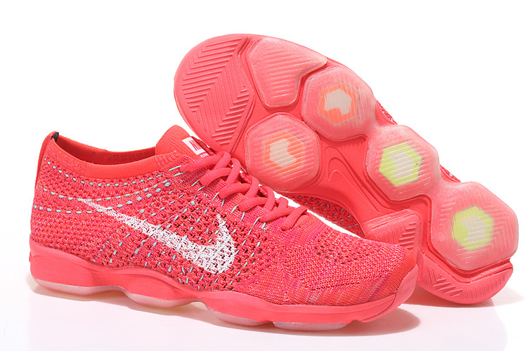 Women Nike Flyknit Agility All Red Running Shoes
