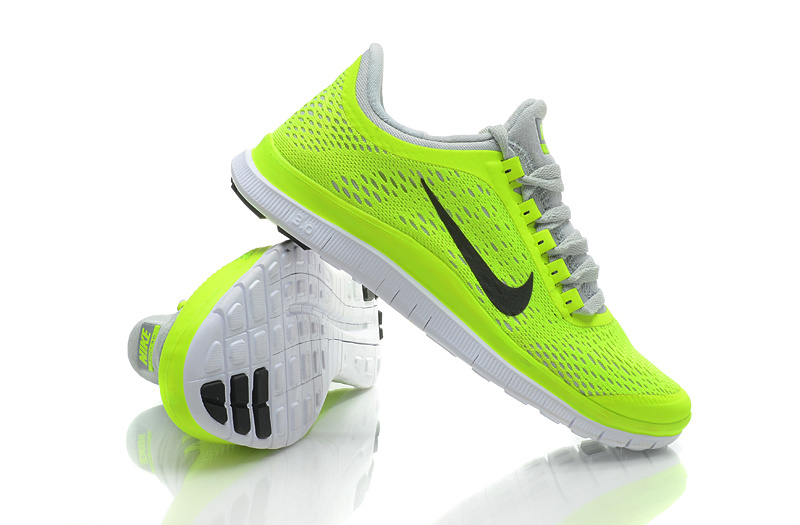 2d7978a40348 Women Nike Free 3.0 V5 Fluorscent Grey Running Shoes
