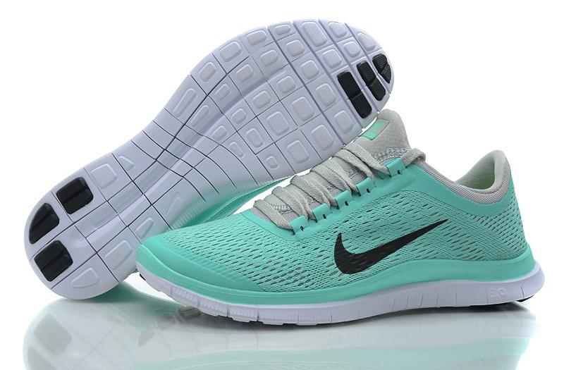 51d3136d8af Women Nike Free 3.0 V5 Green Grey Running Shoes