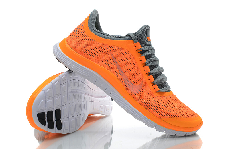 new styles 05311 08ca2 ... switzerland women nike free 3.0 v5 orange grey running shoes 0fc7e 9a862