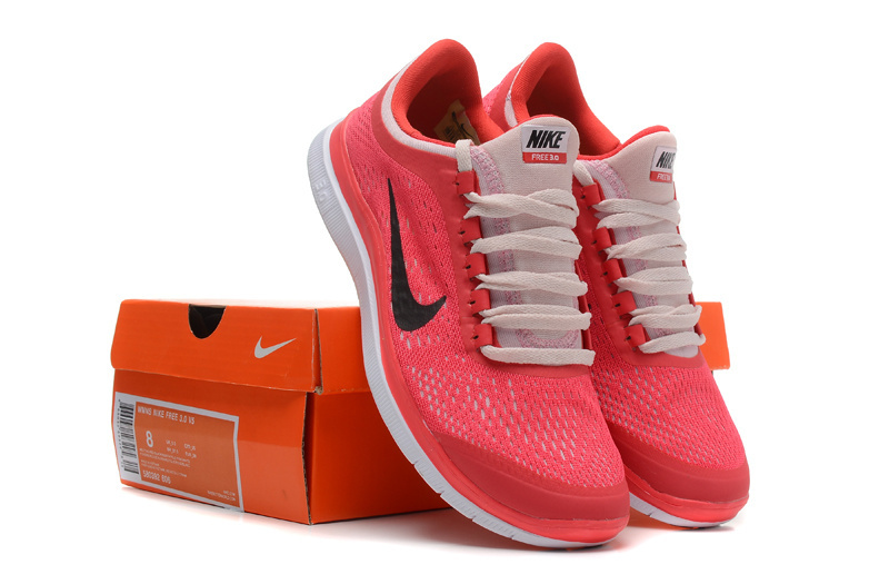 Women Nike Free 3.0 V5 Red Pink Running Shoes