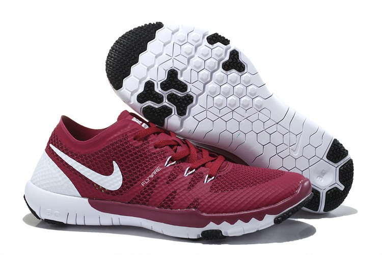 best service d0124 327ef Women Nike Free Trainer 3.0 V3 Wine Red White Running Shoes