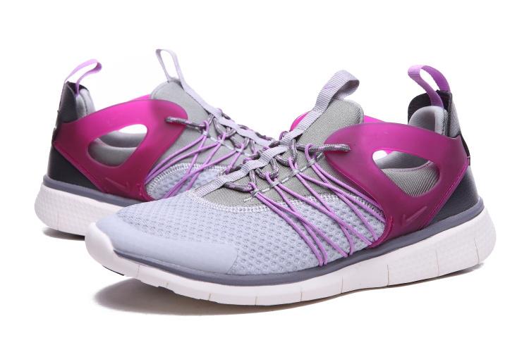 aba588c46161 Women Nike Free Viritous Grey Purple White Running Shoes