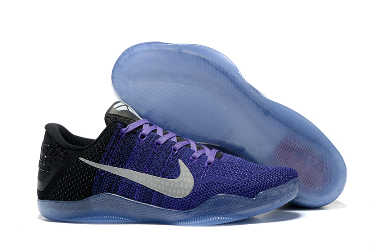 Women Nike Kobe 11 Weave Lakers Purple Shoes