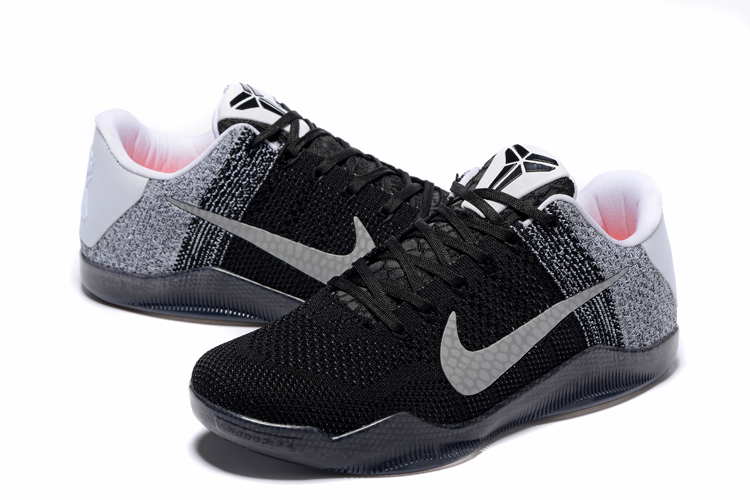 Women Nike Kobe 11 Weave Offical Black Grey Shoes