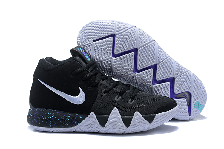 Women Nike Kyrie 4 Black White Shoes